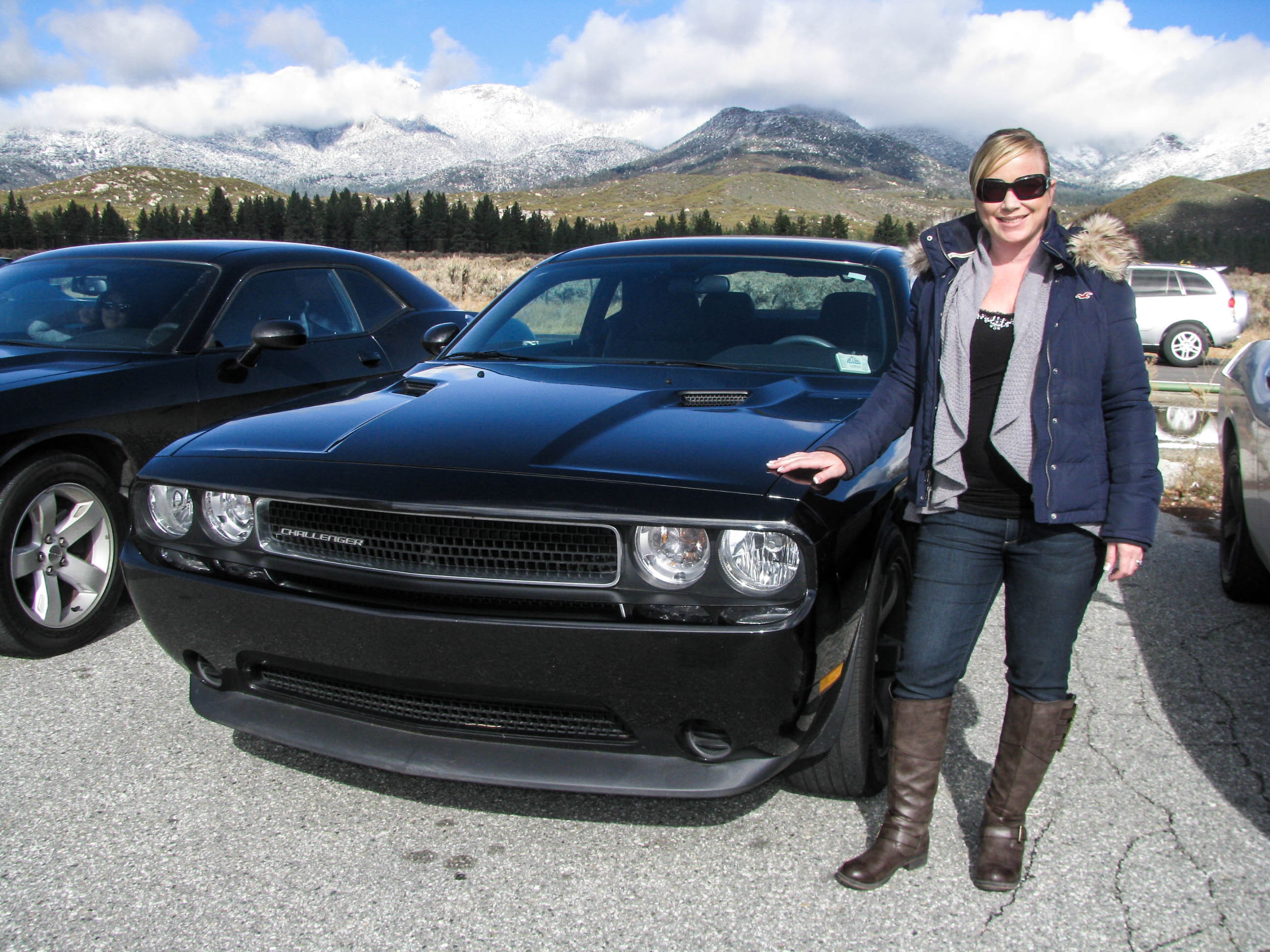 "Rose Mayer of Autobytel and her beloved Dodge Challenger ""Rose Rage."" (Photo: Business Wire)"