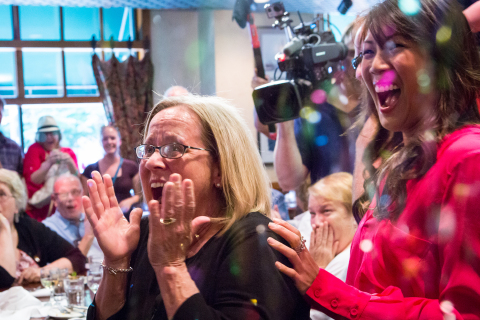 Peggy Walker get the surprise of a lifetime learning she is the 2013 HGTV Smart Home Winner. HGTV, H ...