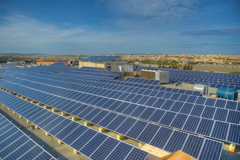 In 2012, 22 percent of Baxter's total energy use for operations was from renewable energy. Baxter's Malta facility recently completed installation of the company's largest on-site photovoltaic system. (Photo: Business Wire)