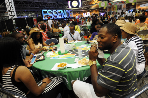 Bounty Select-A-Size takes over the food court area at the 19th Annual Essence Music Festival in New ...
