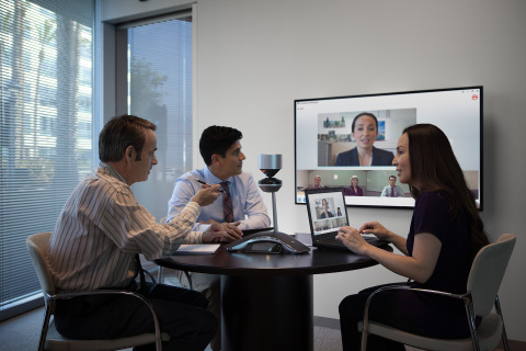 Polycom CX5500 and CX5100 are the industry's first 360-degree, panoramic 1080p HD video collaboratio ...
