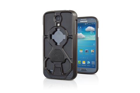 The new shock-proof Samsung Galaxy S4 case offers ultimate protection along with signature integrated mounting system. Made from high-impact polycarbonate, this 2 piece sliding case comes with an easy-stick car mount and is interchangeable across Rokform's entire line of mountable accessories. A magnetic mounting option is also available. (Photo: Business Wire)