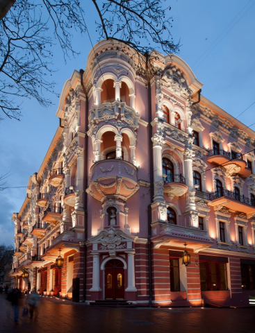 The exterior of Hotel Bristol, a Luxury Collection Hotel, Odessa. (Photo: Business Wire)