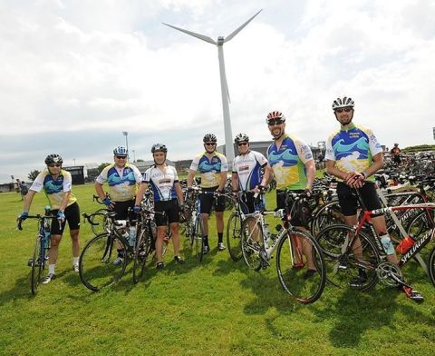 "Cyclists from Team ""Reason to Ride"" at the Cape Cod Getaway- a 150 Mike Bike Ride Which Raises Money ..."