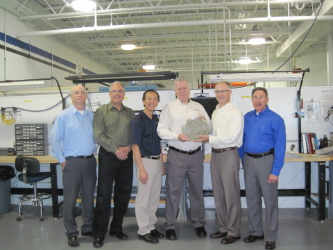 Magnetek Receives Premier Supplier Award from Joy Global. From left: Joy Global's Rick Johnston and Robert Caracci; Magnetek's Hungsun Hui and Joe Ley; Spencer Davis, Joy Global; Gary Bolbat, Magnetek (Photo: Business Wire)