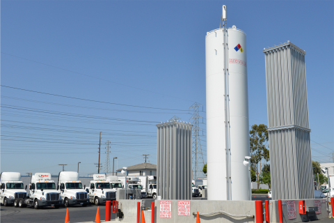 Ryder liquefied natural gas fuel station in Orange, CA. (Photo: Business Wire)
