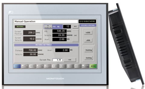"Fuji Electric's newly released TECHNOSHOT Series, a cost-effective line-up of HMI displays. Available in 7"" and 10"" screen sizes, they feature a wide viewing screen, remote monitoring capabilities, and the industry's thinnest structure at only 36mm thick. (Photo: Business Wire)"