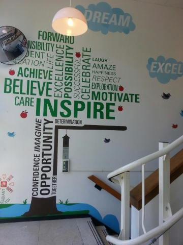 The World Tree Mural at the Reach for Youth Center Township Office, Indianapolis (Photo: Business Wi ...