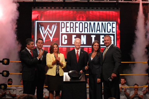 WWE SVP of Special Events, John P. Saboor, Full Sail University COO Ken Goldstone, Orange County Com ...