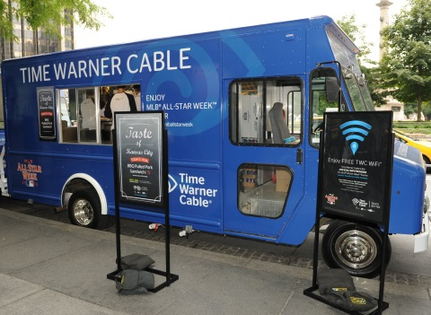 Time Warner Cable celebrates the launch of TWC WiFi and baseball themed food trucks during MLB All-S ...