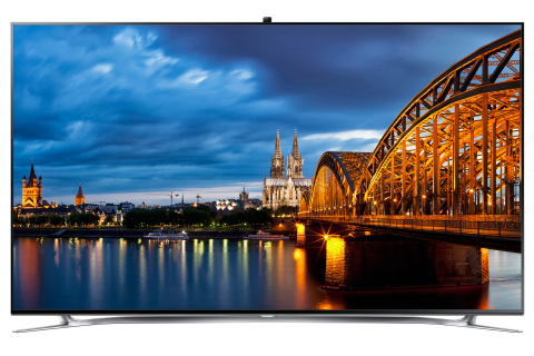 "Samsung's 65"" F8000 LED TV offers consumers unparalleled picture quality and advanced features including Smart TV and 3D capabilities. (Photo: Business Wire)"