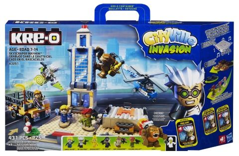 Hasbro introduces the KRE-O CITYVILLE INVASION line of building sets featuring SONIC MOTION technolo ...