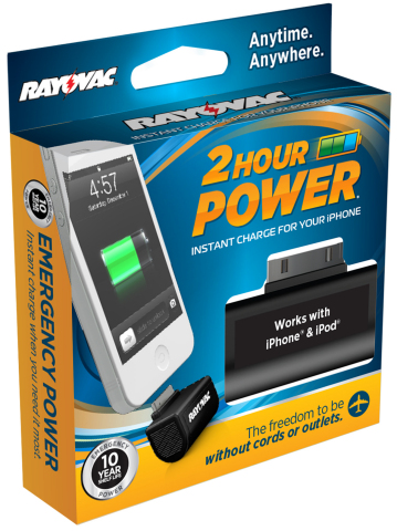 Rayovac 2-Hour Power (Photo: Business Wire)