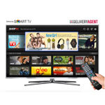 ShopTV allows viewers to shop for products seen in network programming and advertising via their remote control. The new t-commerce application is pre-loaded in 2012 and 2013 Samsung Smart TVs.