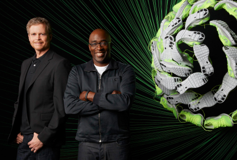 Mark Parker, President & CEO of NIKE, Inc., with Trevor Edwards, NIKE Brand President, at the unveil ...