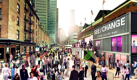 Rendering of Retail Containers and Topsider Bar (Photo: Business Wire)