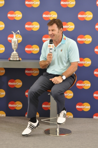 Sir Nick Faldo, MasterCard's newest sponsorship ambassador, at The Open Championship. (Photo: Busine ...