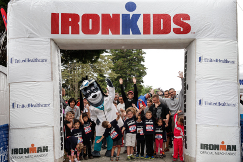 Kids at the starting line of the UnitedHealthcare IRONKIDS Lake Stevens Fun Run. Photo Credit: Kim D ...