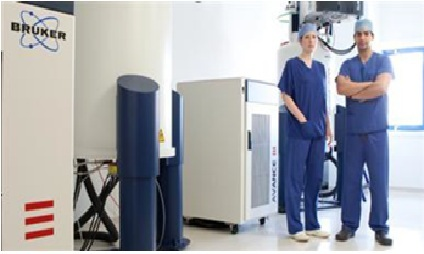 Surgeons with two new AVANCE 600 MHz NMR systems at the Imperial/St. Mary's Clinical Phenome Center ...