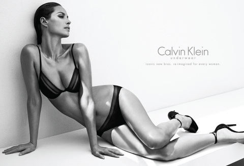 An image from Calvin Klein Underwear's Fall 2013 ad campaign featuring Christy Turlington Burns. IMAGE CREDIT: © 2013 Mario Sorrenti