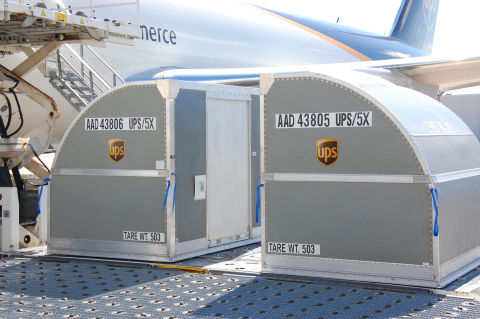 UPS placed an industry-first order for 1,821 fire-resistant shipping containers. The unit load devic ...
