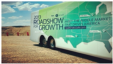 Roadshow for Growth Bus. (Photo: Business Wire)