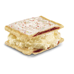 The new Strawberry Pop-Tarts Ice Cream Sandwich, available at Carl's Jr., features hand-scooped premium vanilla ice cream sandwiched between a halved Strawberry Pop-Tart pastry. (Photo: Business Wire)