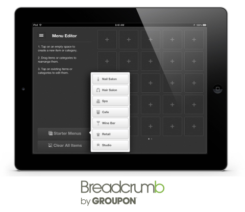 Thousands of Menu Items to Load or Choose From - Breadcrumb POS comes with seven preloaded menus and inventory lists for the most popular types of local businesses, enabling merchants to start running their systems within minutes; merchants can also now add, scroll and search thousands of menu items. (Photo: Business Wire)