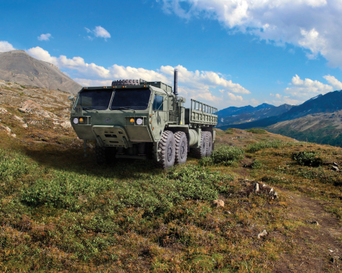 The MSVS SMP solution from Oshkosh Defense, shown here in the Cargo variant, combines state-of-the-a ...