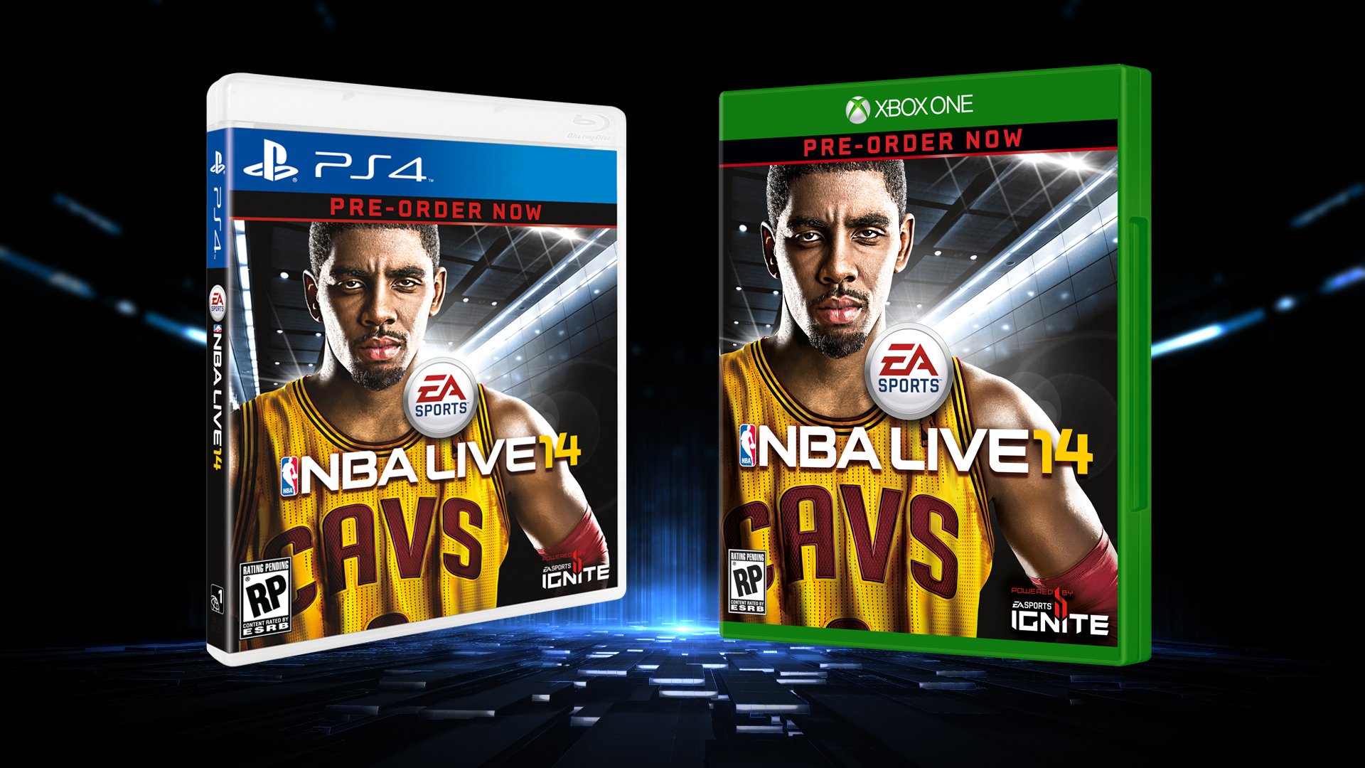 NBA LIVE 14 PS4 and Xbox One box art (Graphic: Business Wire)