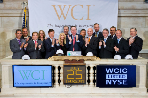 WCI Communities CEO Keith E. Bass, joined by members of WCI's management team, board of directors an ...
