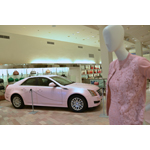 Neiman Marcus salutes Mary Kay Inc.'s 50th anniversary with a pink-themed display including a pink Mary Kay 2013 Cadillac CTS at their flagship location in downtown Dallas. The display runs through Aug. 7 in honor of Mary Kay's 50th anniversary and annual convention, known as Seminar, which brings 50,000 attendees to the Kay Bailey Hutchison Convention Center and delivers an economic impact of more than $49 million to the city of Dallas. Photo courtesy of Mary Kay Inc.