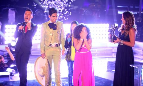 Paola Guanche es la primera ganadora de La Voz Kids (Photo: Business Wire)