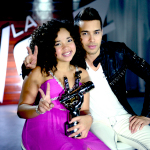 Paola Guanche y su Coach Prince Royce (Photo: Business Wire)