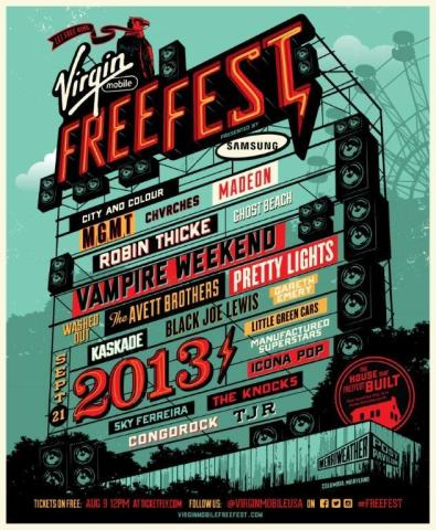 Virgin Mobile FreeFest 2013 (Graphic: Virgin)