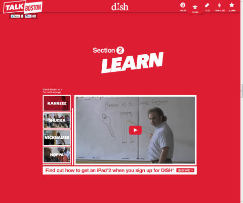TalkBoston.com screenshot of Boston as a Second Language videos (Photo: Business Wire)