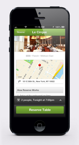 Groupon Brings HighEnd Groupon Reserve Offers To Mobile Business Wire - Table reserve app