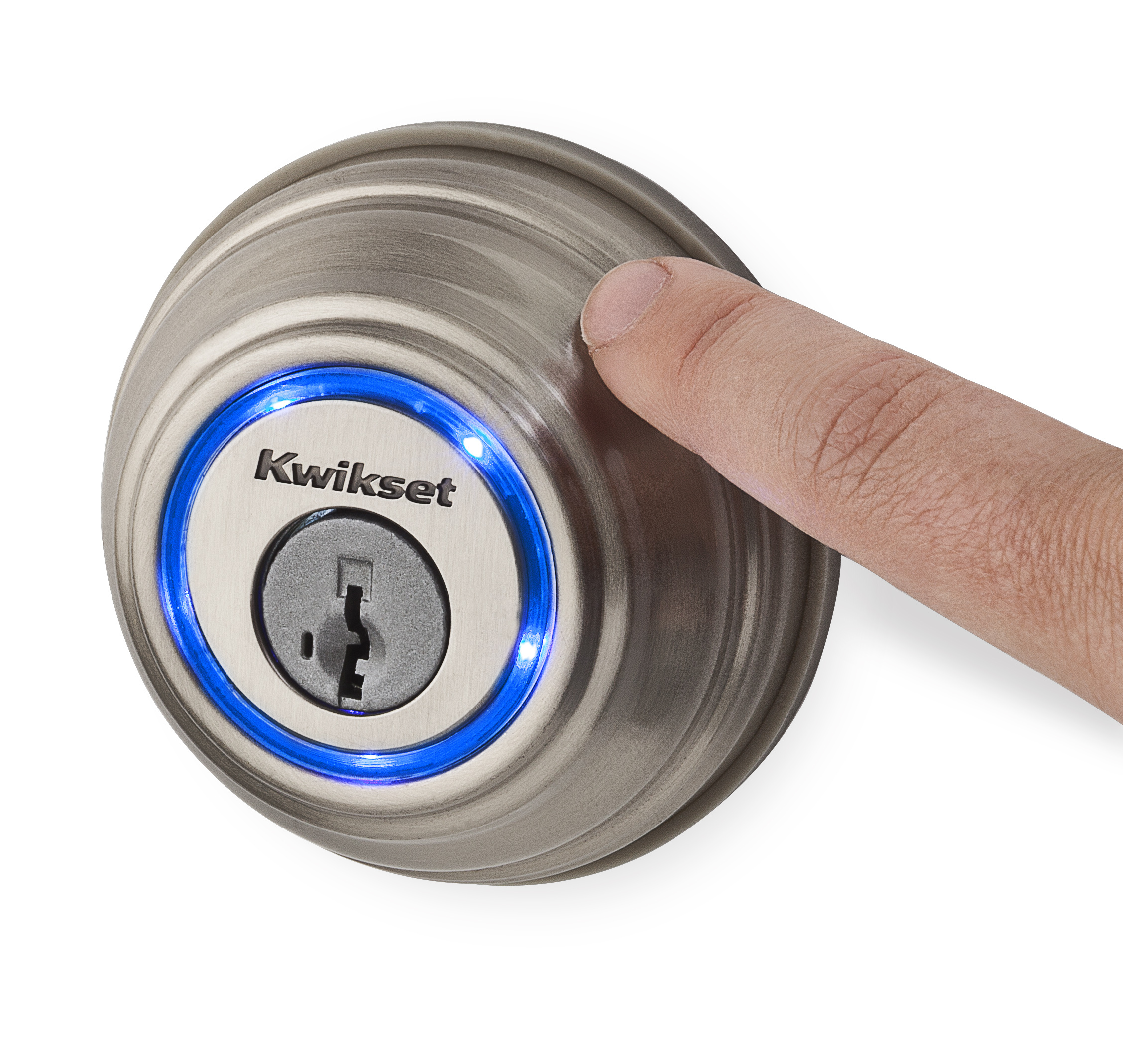 Kevo is the first deadbolt intelligent enough to communicate with a smartphone and unlock with a simple touch. (Photo: Business Wire)