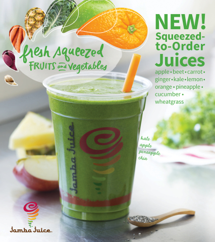 Jamba(R) Sees Significant Potential with Blended Whole Food and Juice Expansion (Photo: Business Wir ...