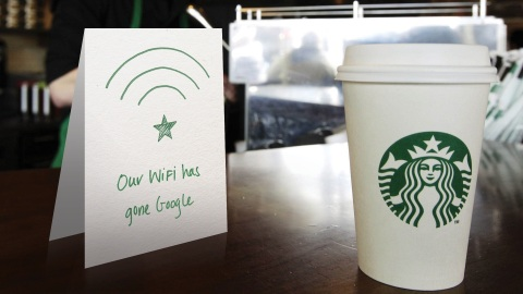 Starbucks teams up with Google to bring 10 times faster network and Wi-Fi speeds to company-operated ...