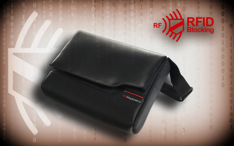 Das Keyboard launches new line of radio frequency blocking bags. HackShield Backpack and HackShield Messenger Bag empower professionals on-the-go and privacy-minded citizens with a new level of protection against physical and digital intrusion. (Photo: Business Wire)