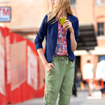 Shop QMack, available exclusively at Macy's, beginning this August; Admiral Spencer Jacket $99, Floral Sleeveless Blouse $69, Herringbone Cargo Pant $89. (Photo: Business Wire)