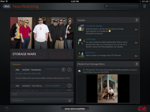 GetGlue check-ins within DISH Explorer can automatically populate to a user's Facebook and Twitter feeds. (Photo: Business Wire)