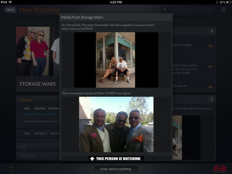 GetGlue's media feed tracks real-time activity including pictures, comments, videos, recaps and tweets. (Photo: Business Wire)
