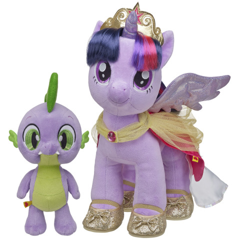Arriving August 2, PRINCESS TWILIGHT SPARKLE ($25) and her trusted assistant SPIKE THE DRAGON ($10) ...
