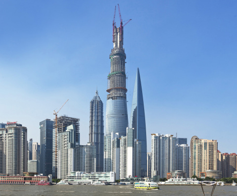 Shanghai Tower Topping Out (Photo: Business Wire)