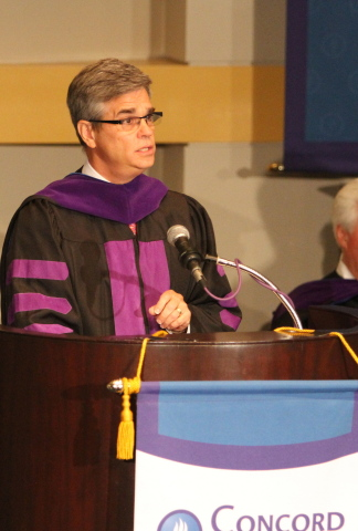LA Superior Court Judge Mark Juhas addresses Concord's graduating class. (Photo: Business Wire)