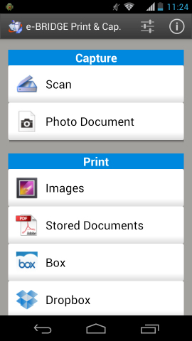"""Android smart phone and tablet PC users can now download the Toshiba TEC's print and scan software app, """"e-BRIDGE Print & Capture"""", adding extra productivity-enhancing tools for an increasingly mobile workforce. (Graphic: Business Wire)"""