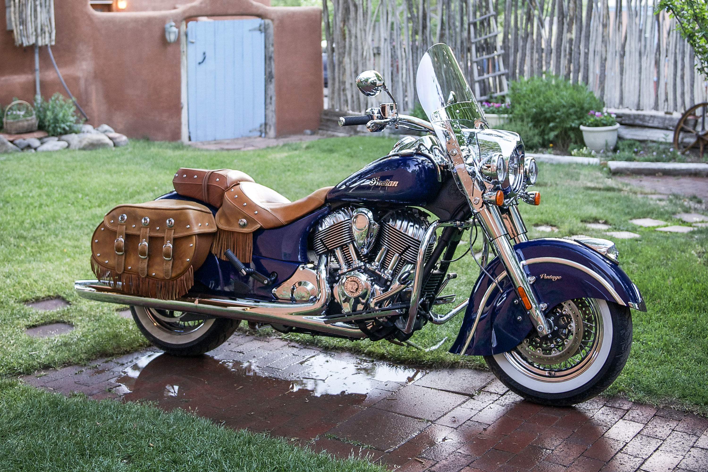 The all-new, yet iconic 2014 Indian Chief Vintage soft bagger (starting MSRP: $20,999) (Photo: Indian Motorcycle)