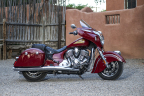 The historic 2014 Indian Chieftain hard bagger with fairing and power windshield (starting at $22,999) (Photo: Indian Motorcycle)